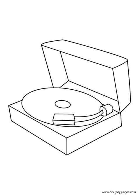 imagenes para pintar musica dibujos musica tocadiscos 001 dibujos y juegos para