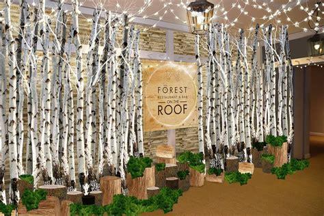 forest themed restaurant    selfridges roof