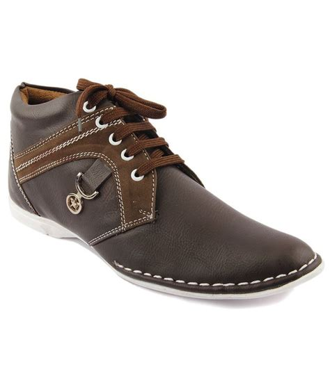 footista brown leather casual shoes price in india buy