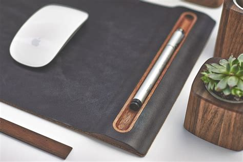 full desk mouse mat leather mouse pad wood tray mouse mat with cork base
