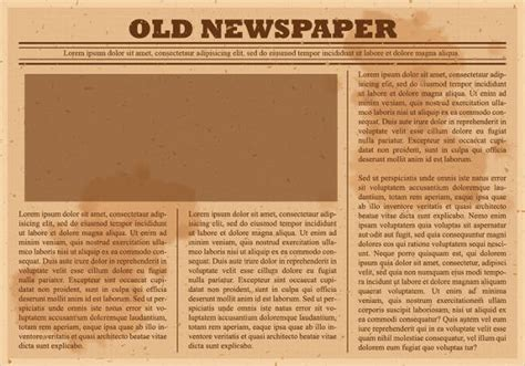 45 printable newspaper templates free premium templates