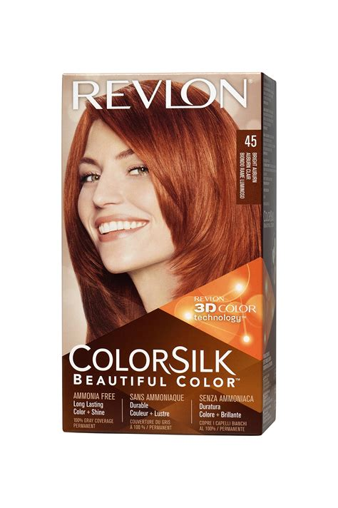 revlon hair dye colors revlon colorsilk haircolor true auburn