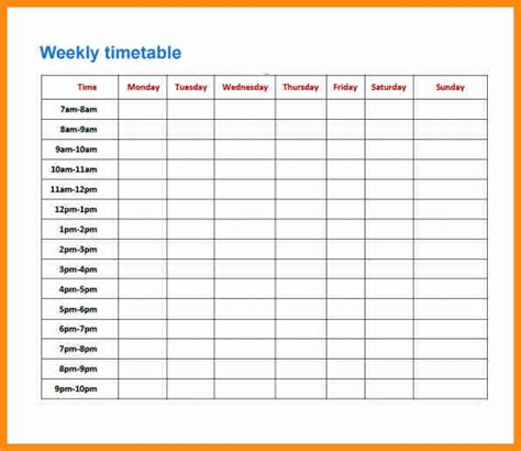 10 revision timetable template musicre sumed
