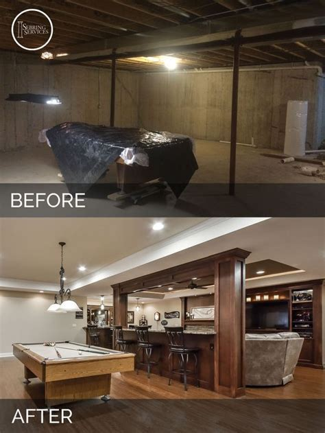 Brian and Kelli's Basement Before and After Brian and