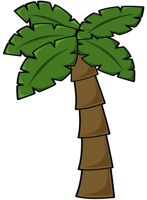 tree clipart vector shapes palm tree clip free vector in open office