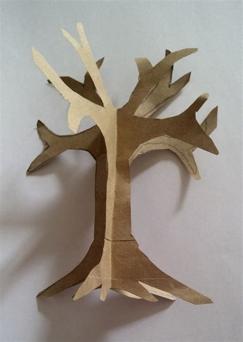 A Tree Out Of Paper - how to make an easy paper craft tree imagine forest