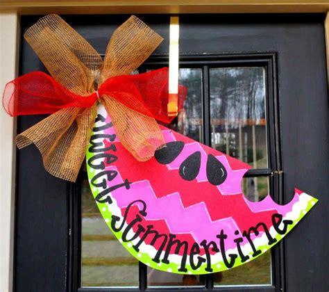door decorations plus unique spring summer door decorations front