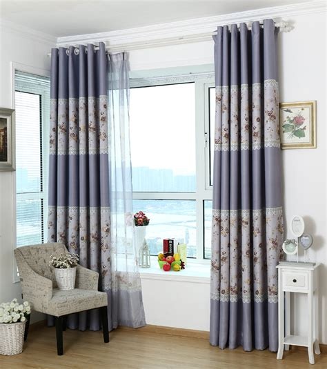 purple and white bedroom curtains pastoral style purple jacquard polyester floral curtains