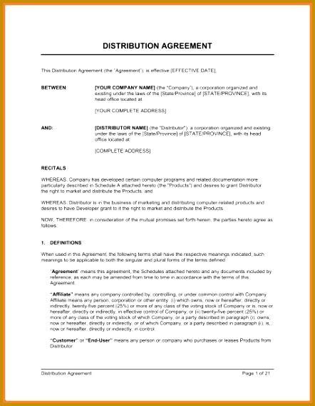 international distribution agreement template 5 sle international distribution agreement fabtemplatez