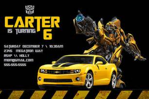 transformers birthday invitation personalized birthday