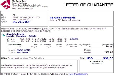 Contoh Surat Guarantee Letter Hotel Contoh Studio Design Gallery Photo
