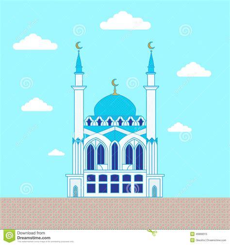 flat design poster vector mosque flat design building poster template stock vector