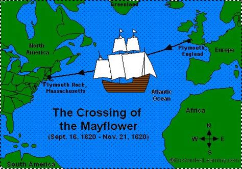 mayflower cross section map from enchanted learning