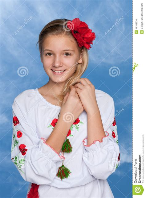video angels underage ukrainian girl against the sky stock photo image of