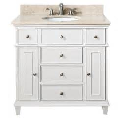 avanity 36 inch white traditional single bathroom