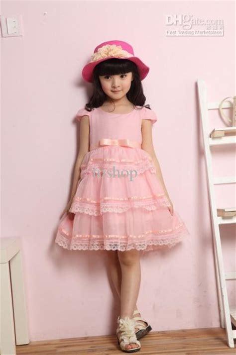 Dress Korea Pink 3 2017 korean wedding dress lace dress princess pink dress new children s clothing flower