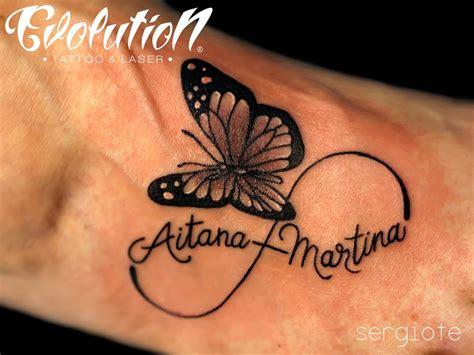 imagenes tatuajes infinito con nombres tatuaje de mariposa 171 evolution tattoo tatuajes y