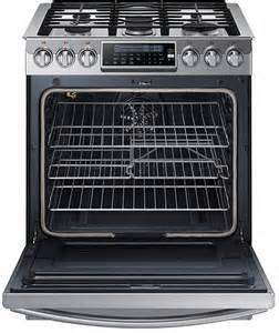 samsung nx58h9500ws 30 inch slide in gas range with 5 8 cu