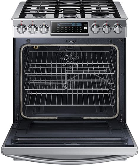 Samsung Oven Racks by Samsung Nx58h9500ws 30 Inch Slide In Gas Range With 5 8 Cu