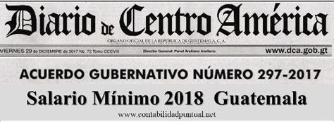 salario mnimo en guatemala 2016 salario m 237 nimo 2018 guatemala ag 297 2017 contabilidad
