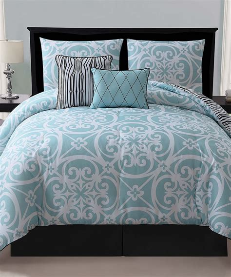 blue kennedy reversible comforter set inside stuff