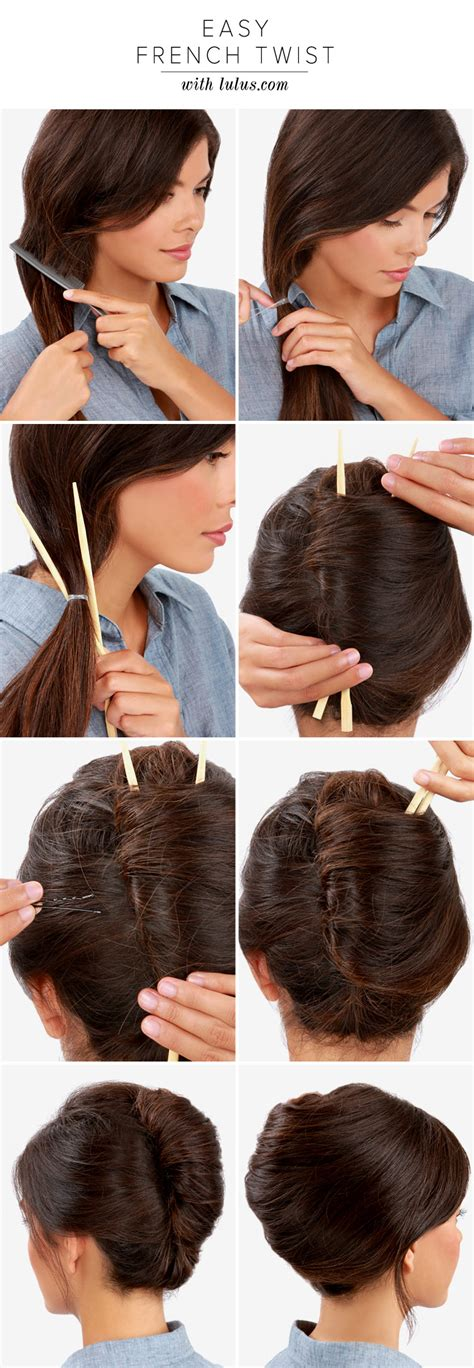 step to step guide on french roll lulu s how to easy french twist lulus com fashion blog