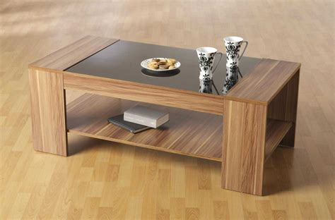 Contemporary Wooden Coffee Table with Coffee Tables Ideas