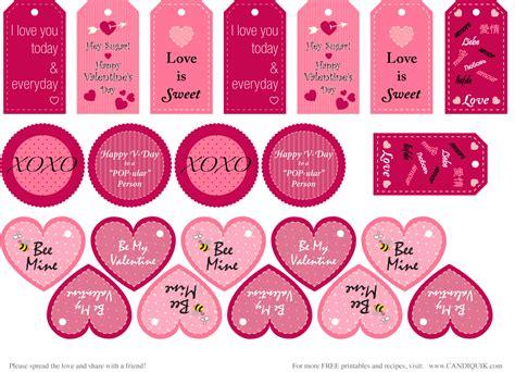 printable labels valentines free printables