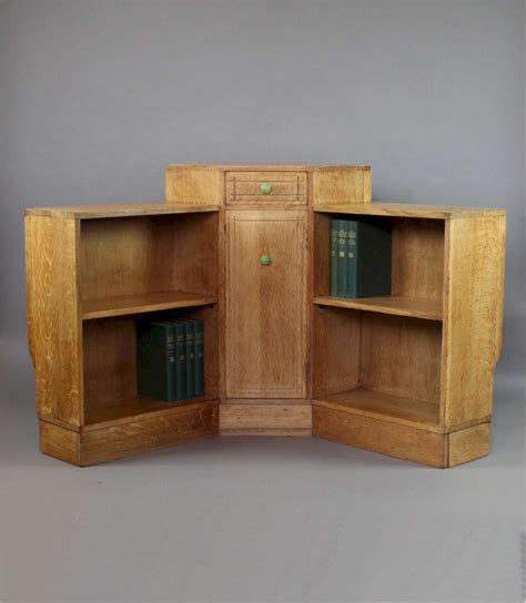 heals oak corner bookcase c1930 s sold furniture