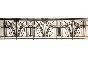 art deco balcony art deco l wrought iron balcony railing school projects