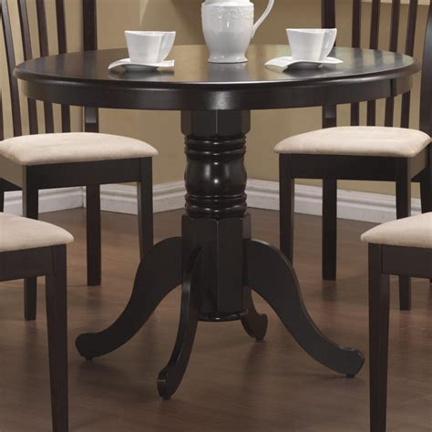 coaster brannan 101081 round single pedestal dining table