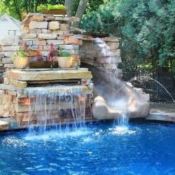 cool water feature no slide cool swimming pools pinterest