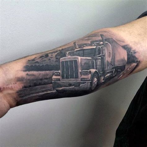 big tattoos for men semi truck designs 60 truck tattoos for