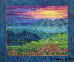 Architecture Landscape Quilt Cathy Geier S Quilty Blue Ridge Mountain