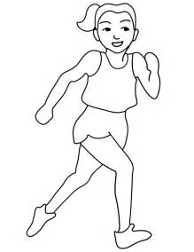 Free Printable Olympic Runner Coloring Page  ClipArt Best sketch template