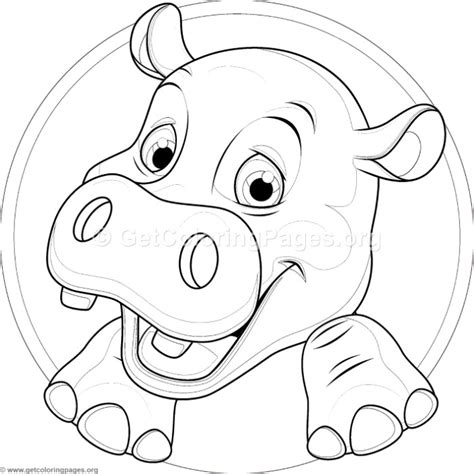 Cute Baby Hippo Coloring Pages ? GetColoringPages.org