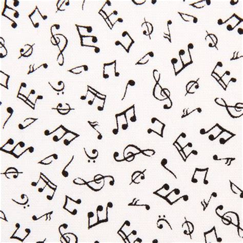 imagenes retro acordes tela blanca mini notas musicales de timeless treasures