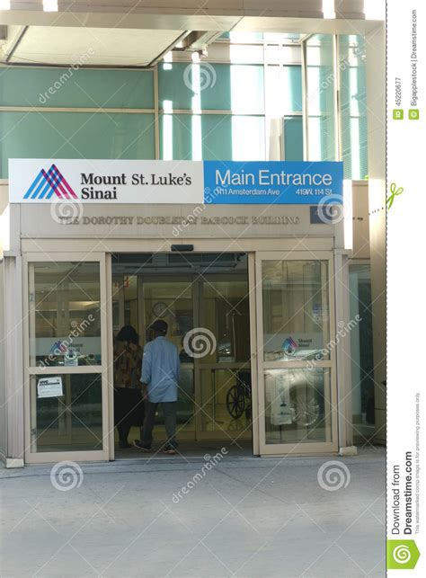 St Luke Detox Nyc by Mount Sinai St Luke S Editorial Photography Image 45220677