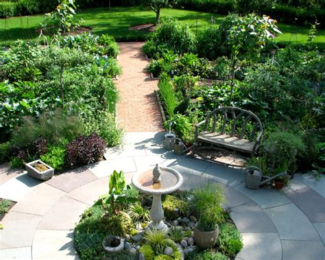 Potager Garden Layout Potager Garden Traditional Landscape Chicago By