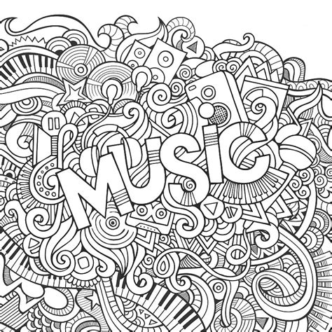 Galerry rock music coloring page