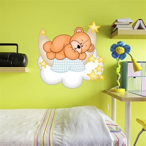 Wandtattoo Kinderzimmer Teddy details zu wallprint wandtattoo teddy b 228 r mond wolken