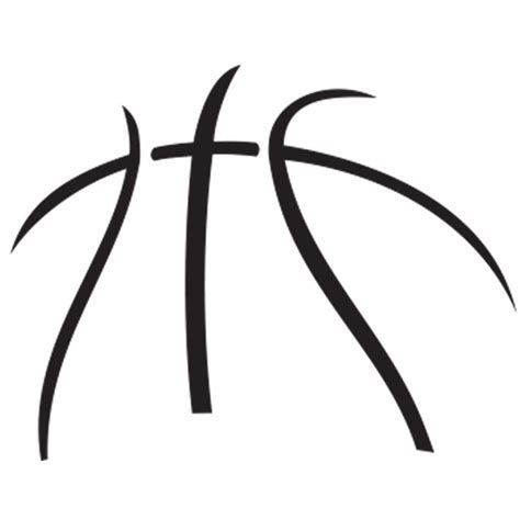 Free Basketball Outline Download Free Clip Art Free Clip Art On Clipart Library Basketball Lines Template