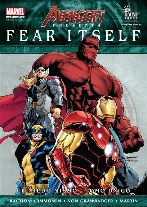 libro miedo fear entender ovni press avengers presenta el miedo mismo fear itself tomo 250 nico