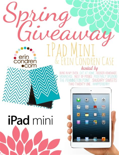 Ipad Sweepstakes - spring ipad mini erin condren case giveaway whipperberry