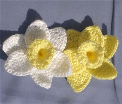pattern crochet daffodil crocheted flowers that will bring your room to life