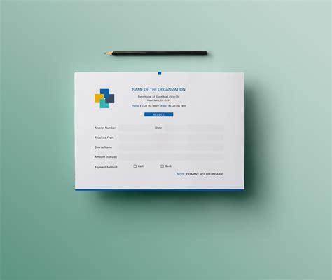 simple  landscape invoice money receipt design