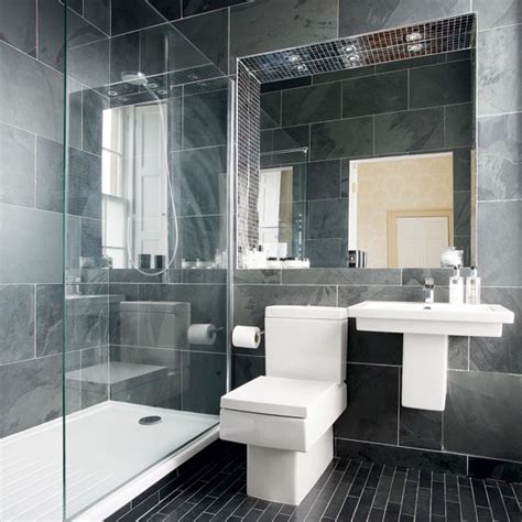 Modern Bathroom Tiles Uk Modern Charcoal Grey Bathroom Bathroom Designs