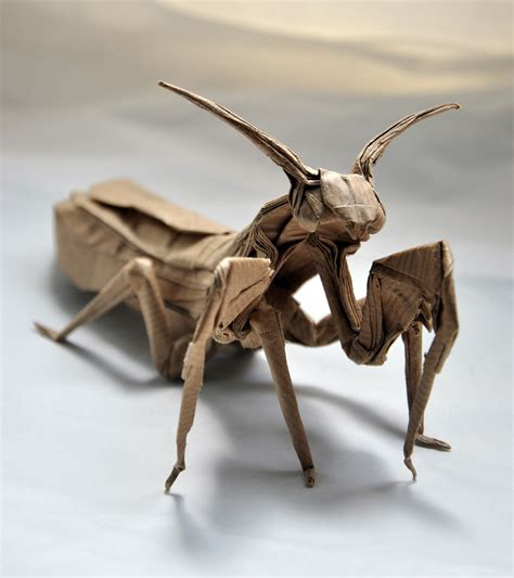 praying mantis origami i c ant believe how complex and realistic these origami
