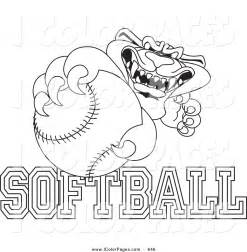 softball color free coloring pages of softball