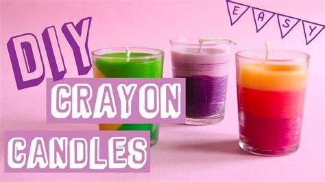 easy diy crayon candle diy lilin krayon